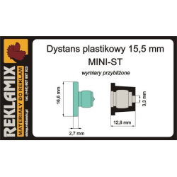 DYSTANS ~15mm MINI-ST biały...